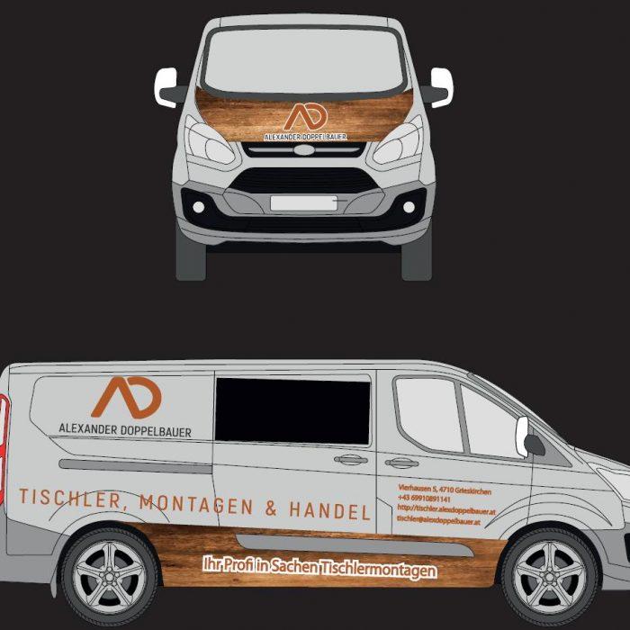 PLUS-DESIGN Grafik Bus Doppelbauer